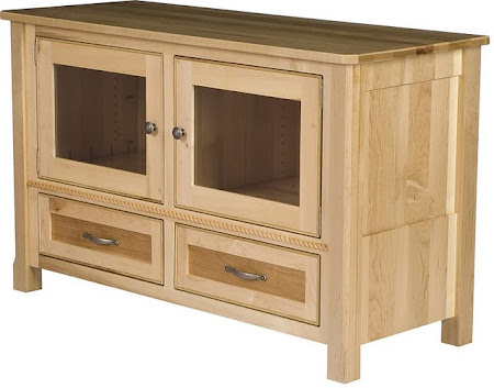 "50"" wide x 30"" high Rothmore Entertainment Center Shown in Natural Maple"