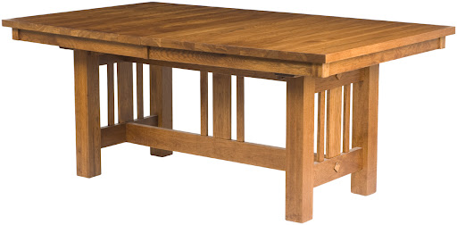 "60"" x 42"" Plains Mission Table in Rustic Oak"