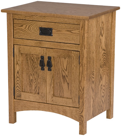 Dakota Nightstand with Doors, in Rustic Oak