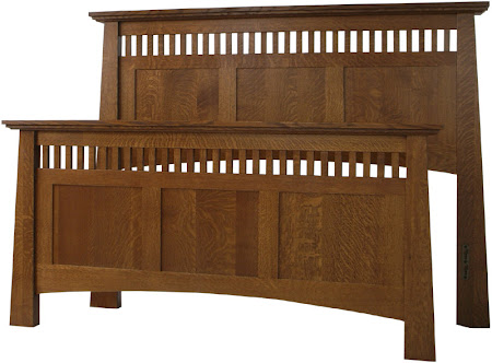 Teton Bed Frame in Medium Quarter Sawn Oak