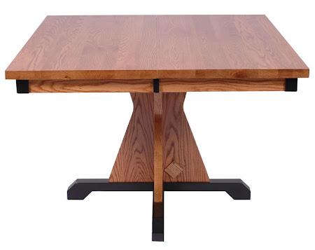 "42"" x 42"" Huntington Dining Table, Oak Hardwood, Medium and Midnight Finish"