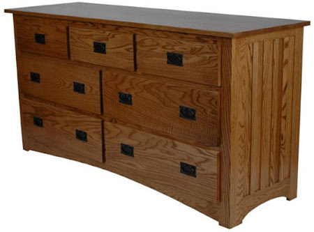 Mission Horizontal Dresser in Medium Oak