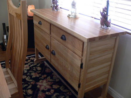 Mission Sideboard in Natural Hickory (right)