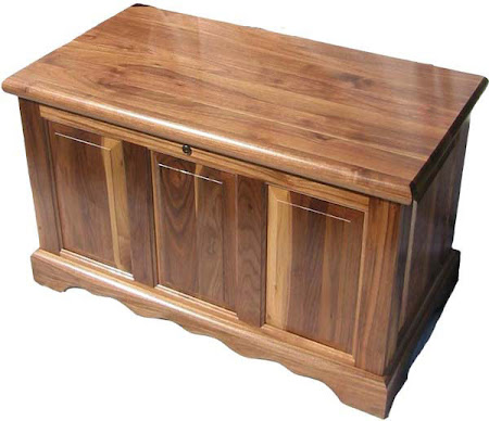"""36"""" wide Hope Chest in Natural Walnut"""
