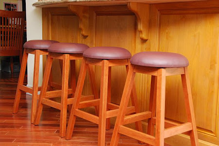 Simple Barstool, Oak Hardwood, Autumn Finish