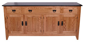 cottonwood shaker kitchen buffet