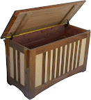 Mission Cedar Chest, Maple and Walnut Hardwood, Natural Finish