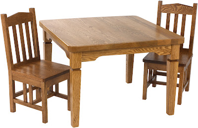 Kids Table, Oak Hardwood, Medium Finish