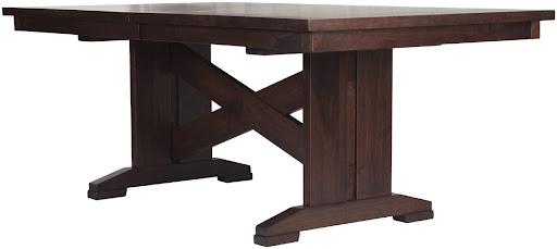 """80"""" x 42"""" Santego Table in Smoky Walnut"""