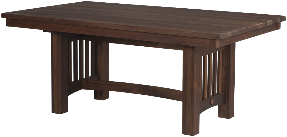 Albany mission dining room table erik organic for Mission style dining table