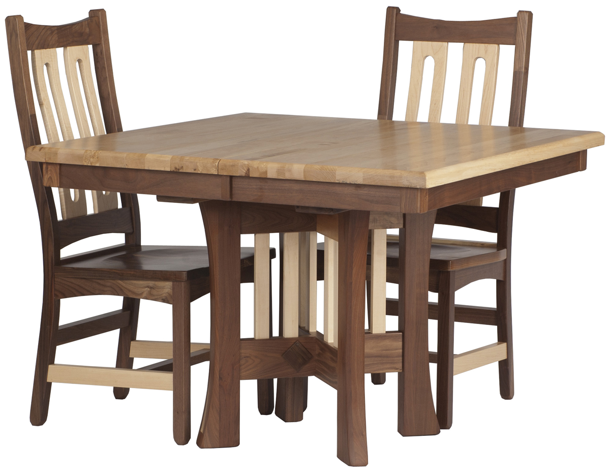 42 X 42 Craftsman Dining Table In Hard Maple And Walnut