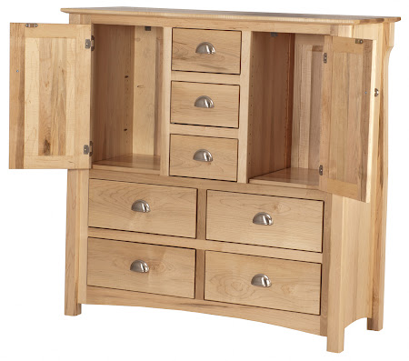 Matching Furniture Piece: Catalina Wardrobe Dresser in Natural Maple