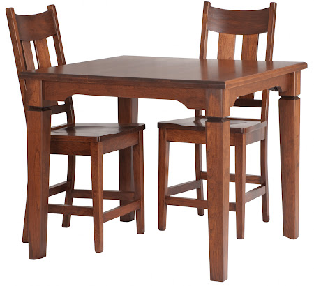 "36"" High Harvest Table and Montrose Barstool in Vintage Cherry"