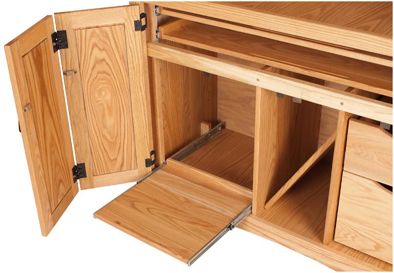 Mission Armoire Desk, Oil U0026 Wax Oak
