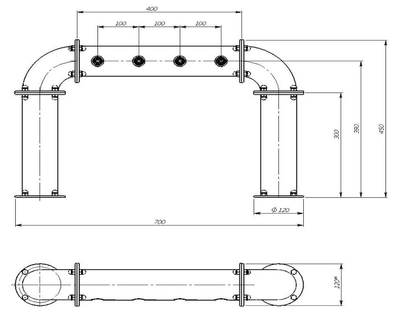 чертеж пивной колонны Арка