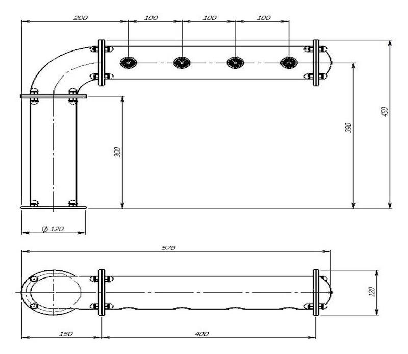 чертеж пивной колонны Полуарка