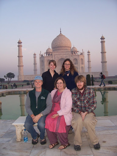 The Obligatory Family Picture at the Taj