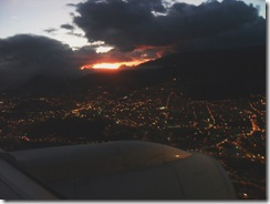 Quito Arrival Sunset