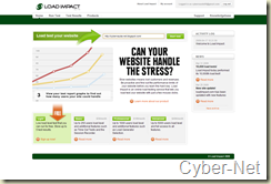 LoadImpact on Cyber-Net