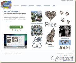 Shapecollage on Cyber-Net