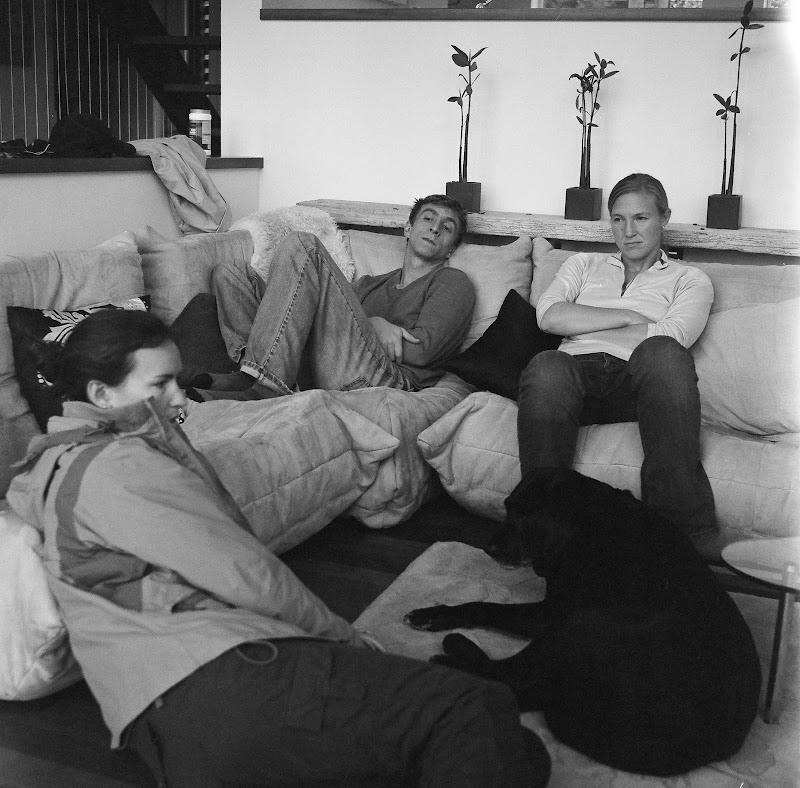 In the living room, on Bainbridge