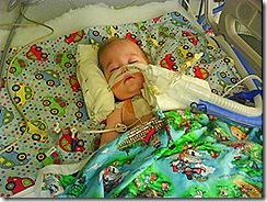 Elias last night in ICU