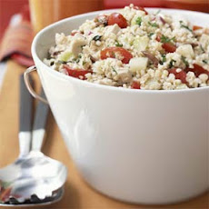 Greek Bulgur Salad with Chicken