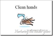 Clean hands card