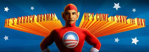 O Super-Obama salva o dia