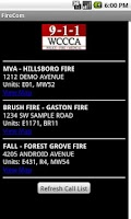 Screenshot of FireCom - Washington County