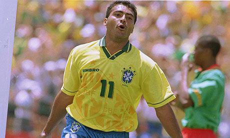 Romário pela Seleção em 94