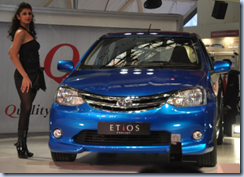 Toyota Etios with model