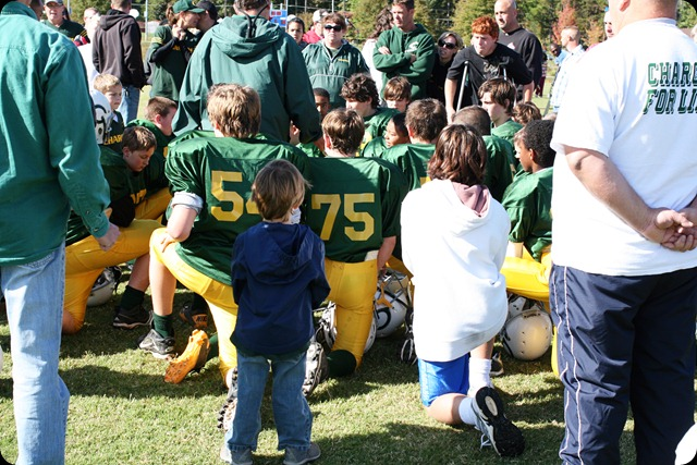 football game after win coach talk