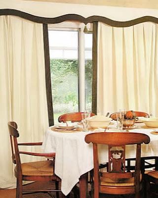 confección de cortina y cenefa para el comedor de nuestra casa