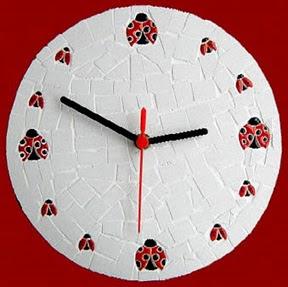 Pasos para realizar reloj mariquita c mo hacer un reloj de - Hacer un reloj de pared ...