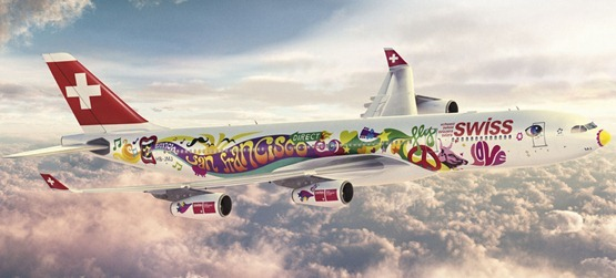 flower power swiss big airplane