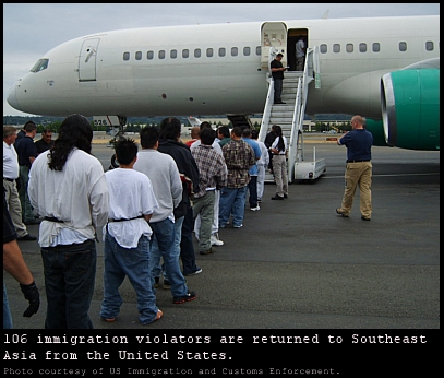 Immigrants are returned to SE Asia