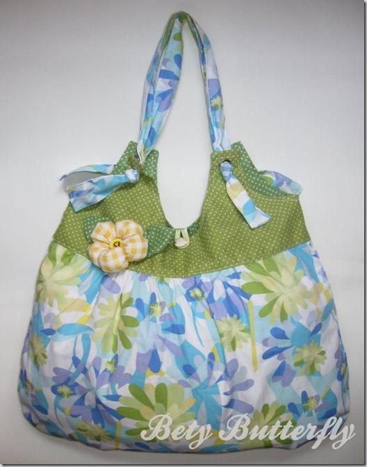 bolsa tecido algodão estampada feminina floral