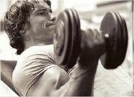 Arnold Schwarzenegger incline curl