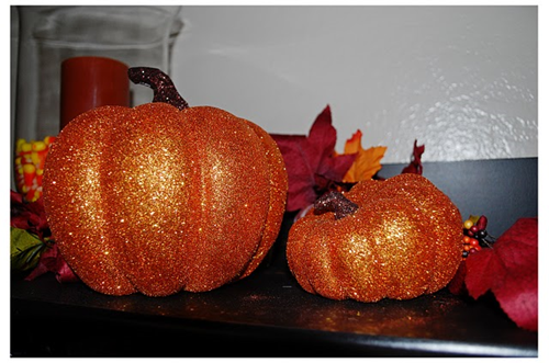 orange glitter pumpkins