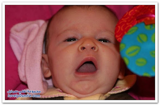 Cute babies with their funniest yawn