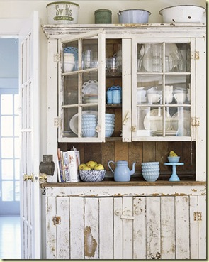 white kitchen hutch - cl