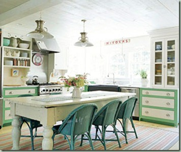 kitchen aqua chairs bhg
