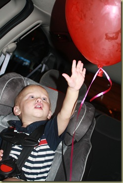 balloon in car