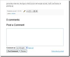 Form komentar After