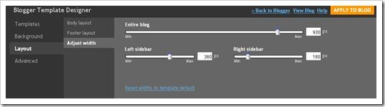 Template Designer - Adjust Width
