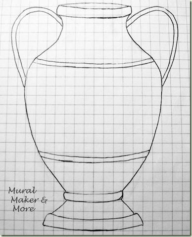 urn line art