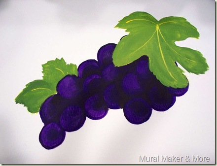 how to paint grape leaves