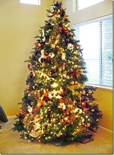 Chocolate & Gold Christmas Tree