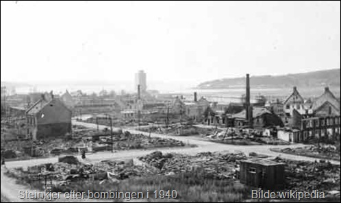 Steinkjer_after_German_bombing